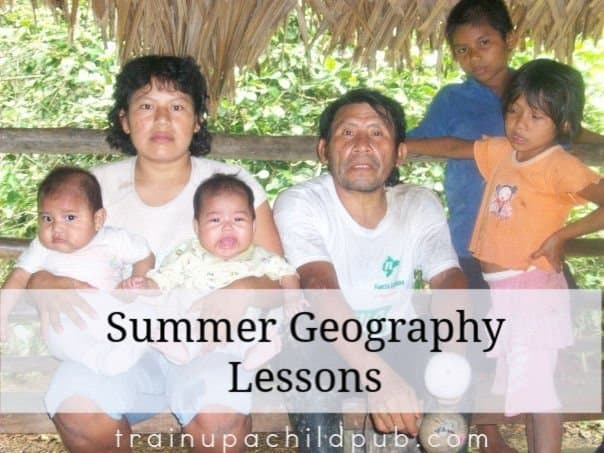 summer geography lessons - a Yagua family from Peru