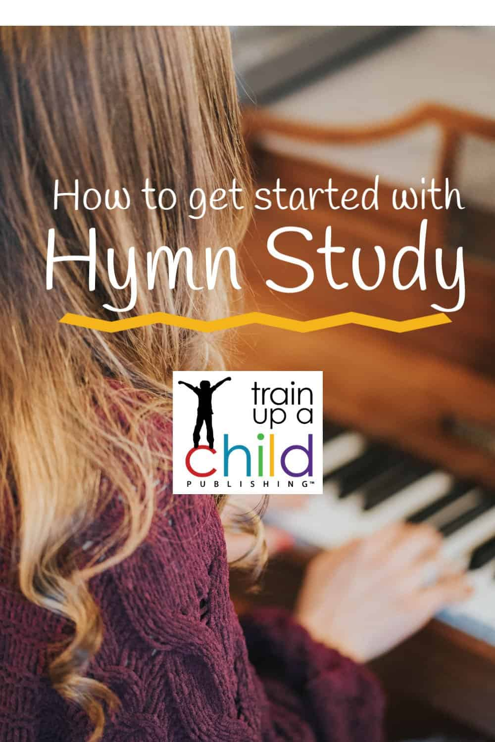 homeschool student playing hymn on the piano