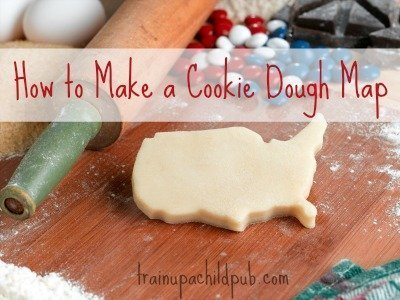 make a cookie dough map