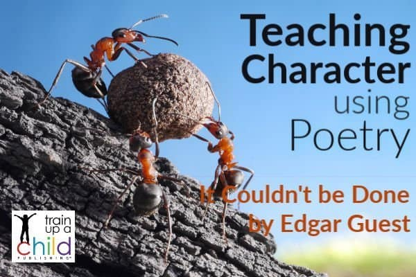 teaching character using poetry