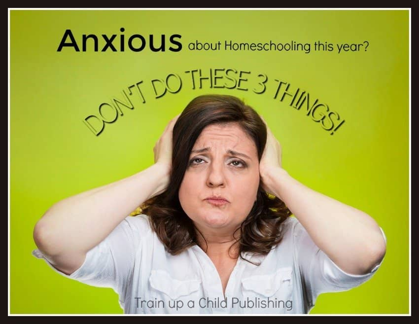 anxious about homeschooling