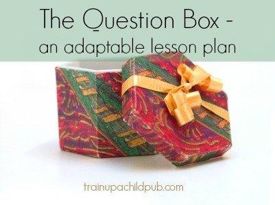 question box- an adaptable lesson plan