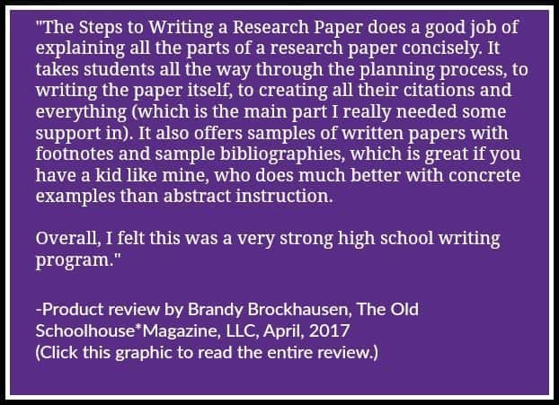 The steps to writing a research paper