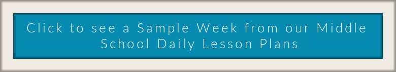 link to a sample week of MIddle School Daily Lesson Plans from Train up a Child Publishing