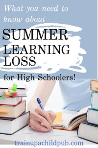 summer learning loss for high school