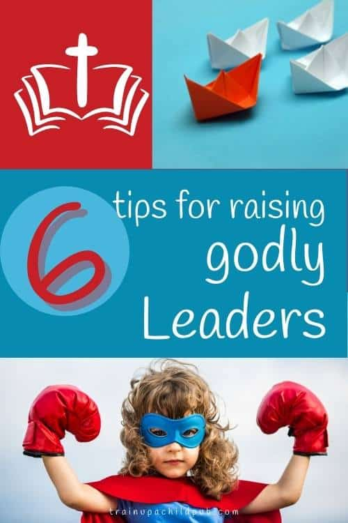raising godly leaders with a picture of a young girl with boxing gloves
