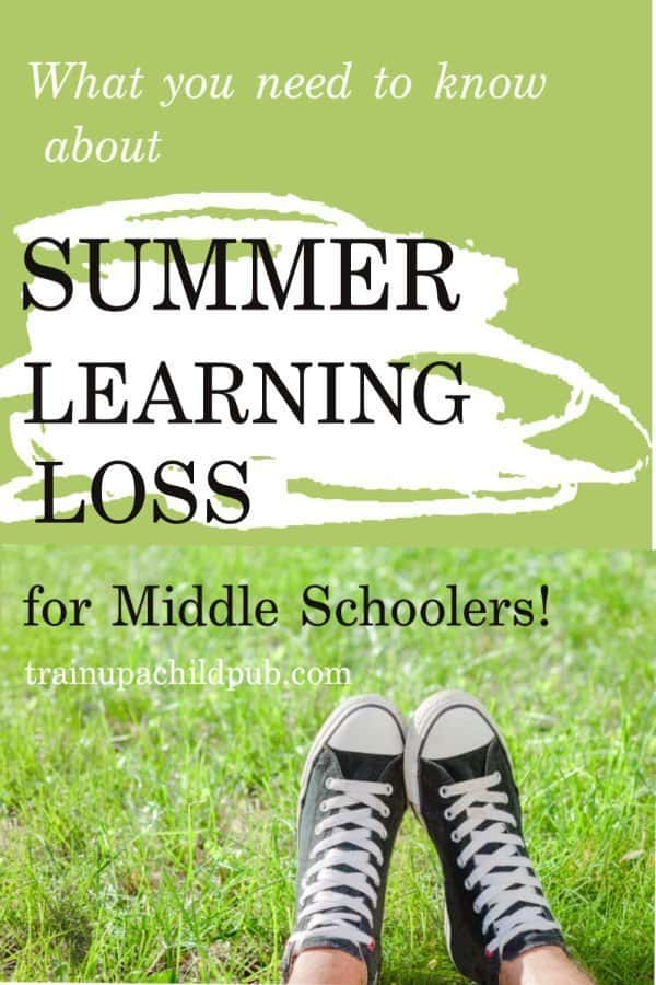 summer learning loss for middle schoolers