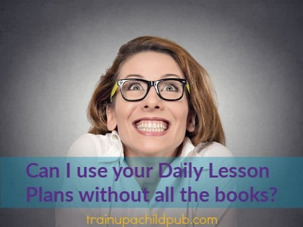 how to use our daily lesson plans without all the books