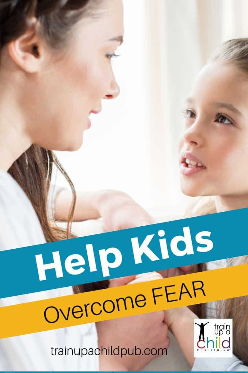 mom helping daughter overcome fear